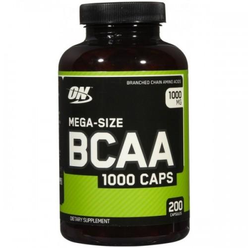 Аминокислота Optimum Nutrition Mega-Size BCAA 1000 200 капсул