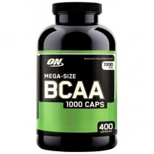 Аминокислота Optimum Nutrition Mega-Size BCAA 1000 400 капсул