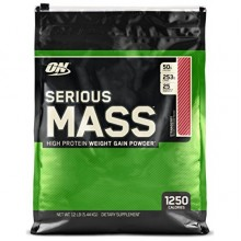 Гейнер Optimum Nutrition Serious Mass 5.45 кг - Ваниль