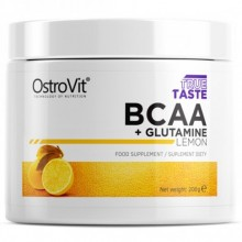 OstroVit BCAA + Glutamine, 200 грамм - Лимон