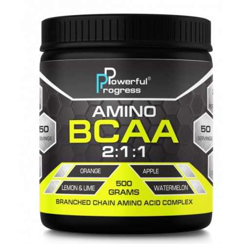 Powerful Progress Amino BCAA 2:1:1, 500г - Клубника