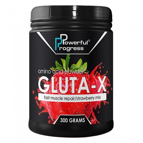 Powerful Progress Gluta-X, 300г - Клубника