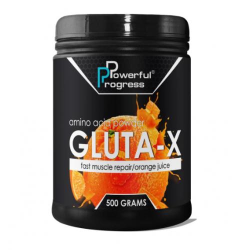 Powerful Progress Gluta-X, 500г - Апельсин