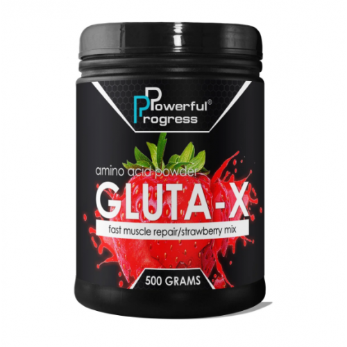 Powerful Progress Gluta-X, 500г - Клубника