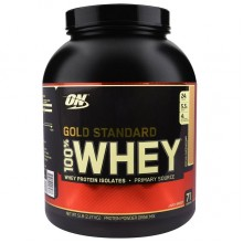 Протеин Optimum Gold Standard 100% Whey, 2.27 кг - Капучино