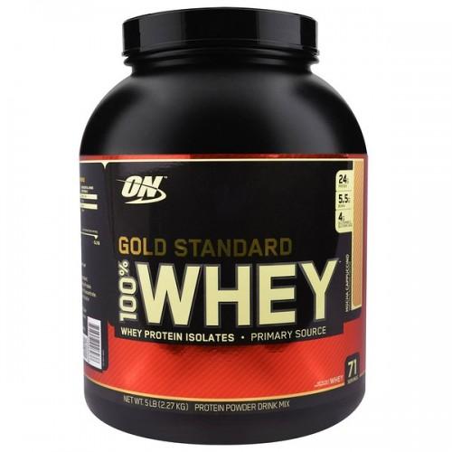 Протеин Optimum Gold Standard 100% Whey, 2.27 кг - Капучино