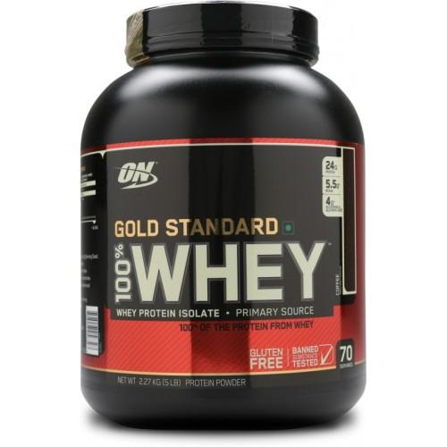 Протеин Optimum Gold Standard 100% Whey, 2.27 кг - Кофе