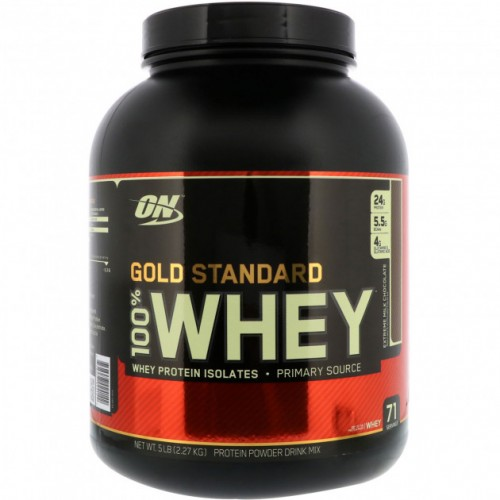 Протеин Optimum Gold Standard 100% Whey, 2.27 кг - Молочный шоколад