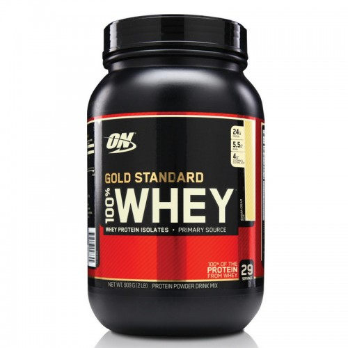 Протеин Optimum Gold Standard 100% Whey, 909 г - Айс ваниль