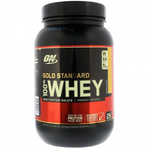 Протеин Optimum Gold Standard 100% Whey, 909 г - Банан