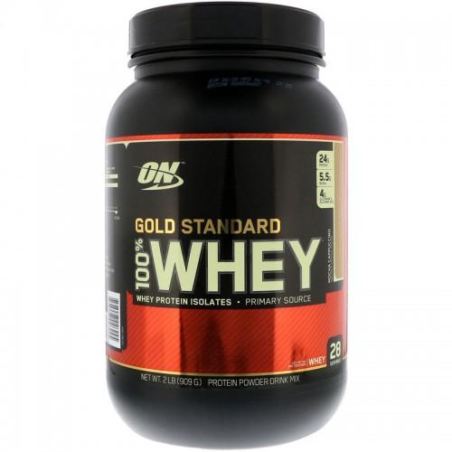 Протеин Optimum Gold Standard 100% Whey, 909 г - Капучино