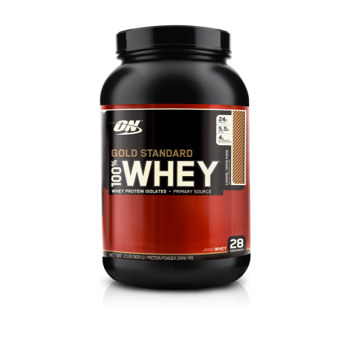 Протеин Optimum Gold Standard 100% Whey, 909 г - Карамель - Тоффи