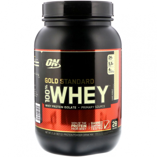 Протеин Optimum Gold Standard 100% Whey, 909 г - Кофе