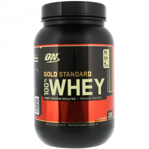 Протеин Optimum Gold Standard 100% Whey, 909 г - Молочный шоколад