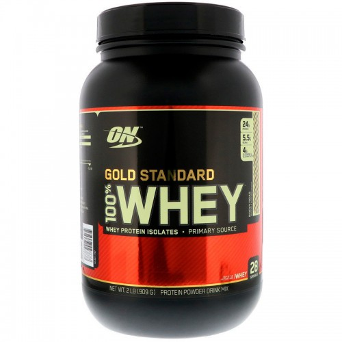 Протеин Optimum Gold Standard 100% Whey, 909 г - Rocky Road