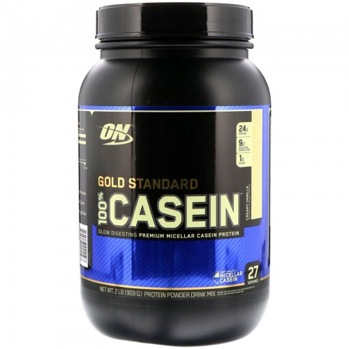 Протеин Optimum Nutrition 100% Casein Gold Standard, 909 г - Ваниль