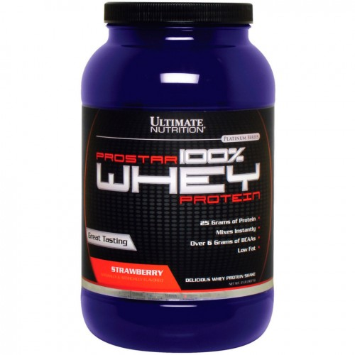 Протеин Ultimate Nutrition Prostar Whey Protein, 907 г - Клубника