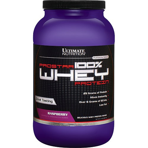Протеин Ultimate Nutrition Prostar Whey Protein, 907 г - Малина