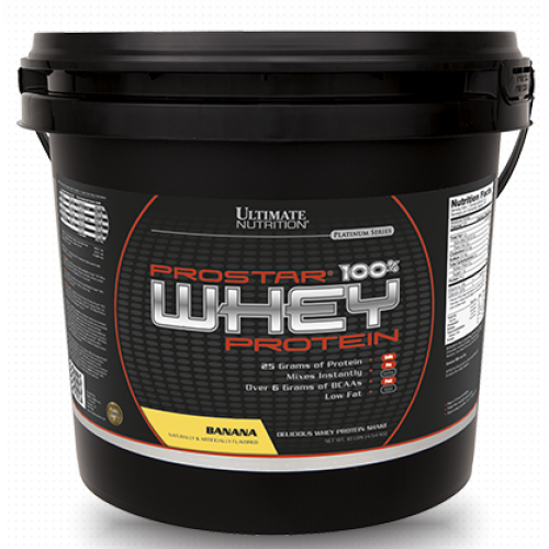 Ultimate Prostar Whey Protein, 4540 г - Банан