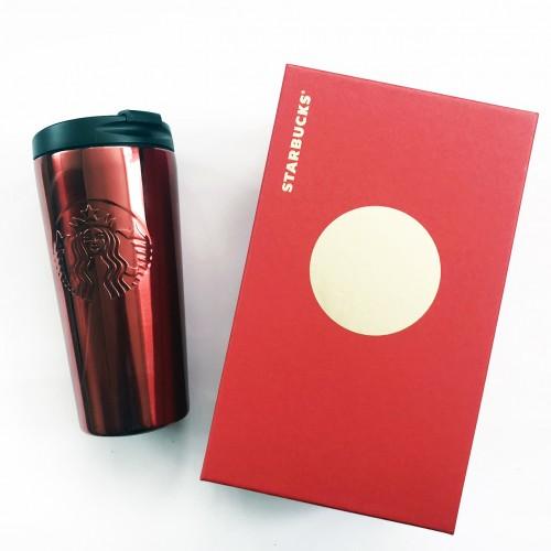 Термокружка Starbucks Coffee Tumbler Thermos Siren Logo 473 мл Red Stainless Steel