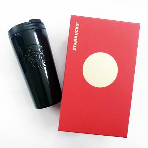 Термокружка Starbucks Coffee Tumbler Thermos Siren Logo 473 мл Black Stainless Steel